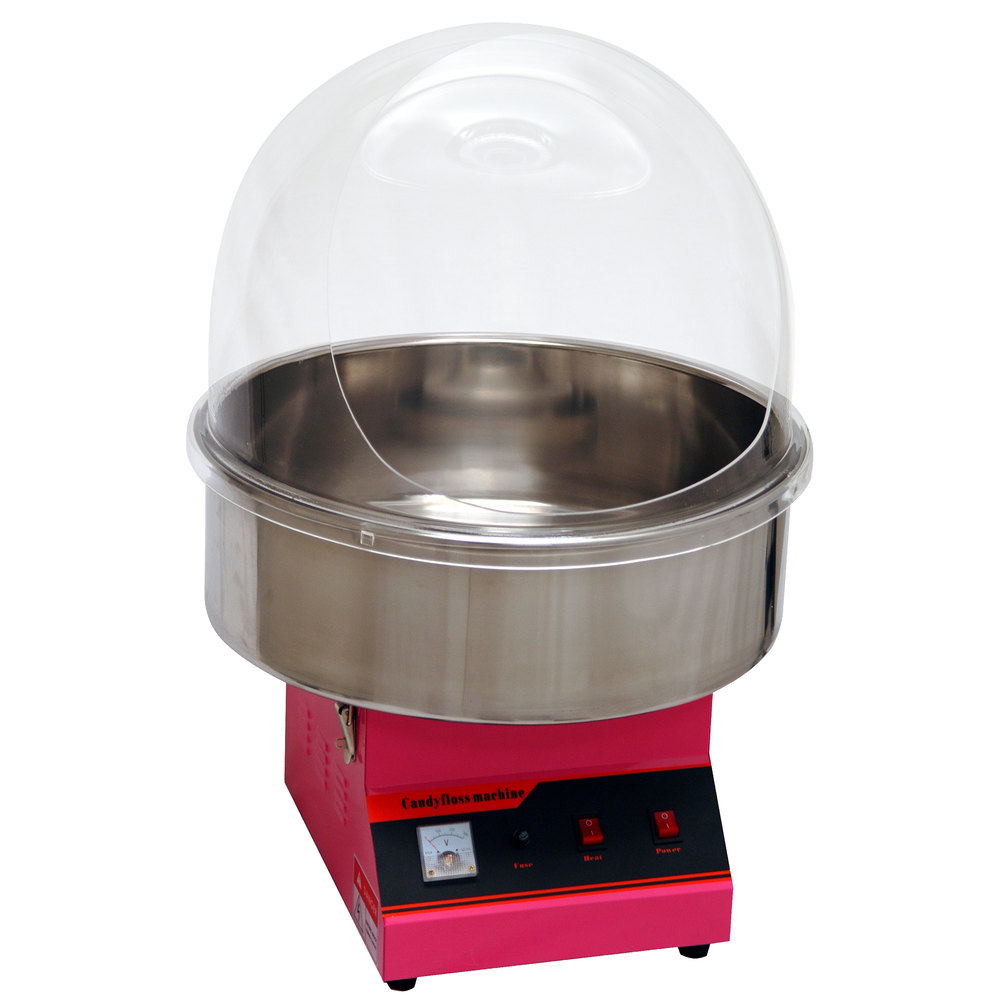 120 volts benchmark usa zephyr cotton candy machine with 21 inch stainless steel bowl and dome - Cotton Candy Machines