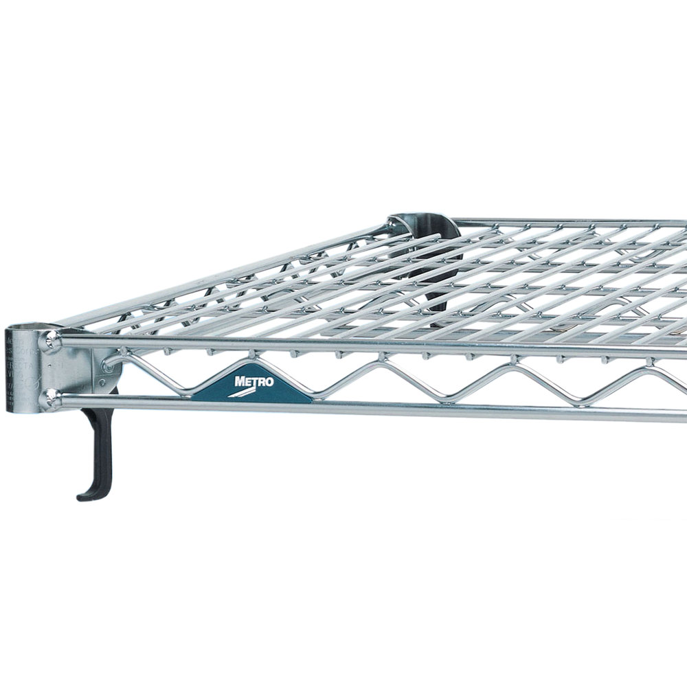 "Metro A1824NS Super Adjustable 2 Stainless Steel Wire Shelf - 18"" x 24"""