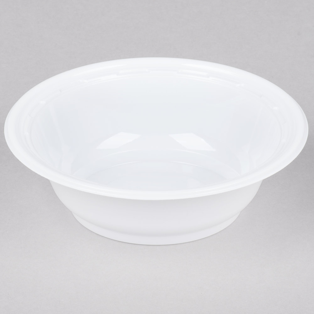 Dart 12BWWF 12 oz. White High Impact Plastic Bowl - 1000/Case