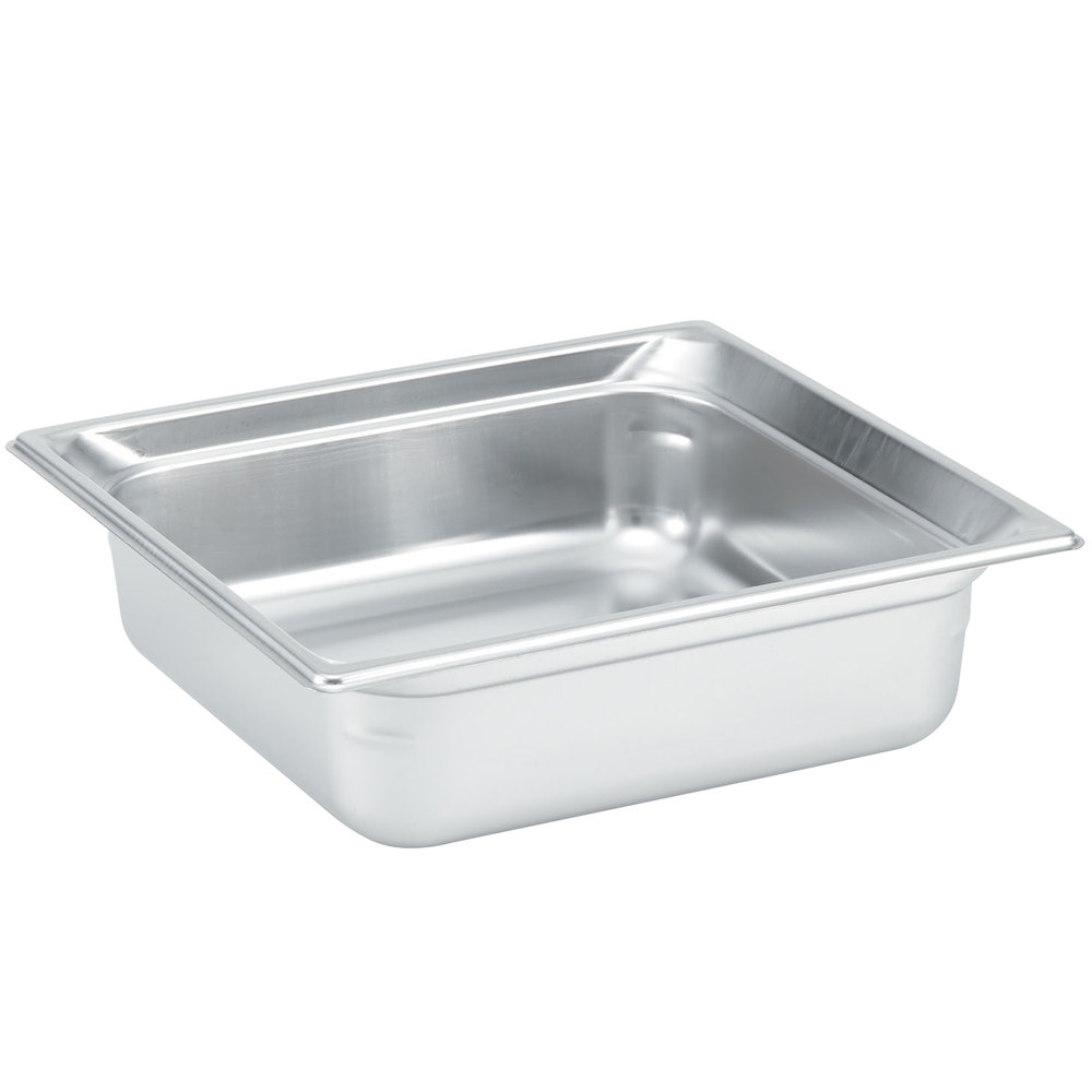 "Vollrath 90122 Super Pan 3® 2/3 Size Anti-Jam Stainless Steel Steam Table Pan - 2 1/2"" Deep"