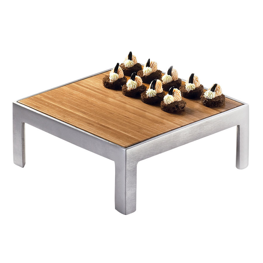 "Cal-Mil 1481-12-60 12"" Square Bamboo Tray"