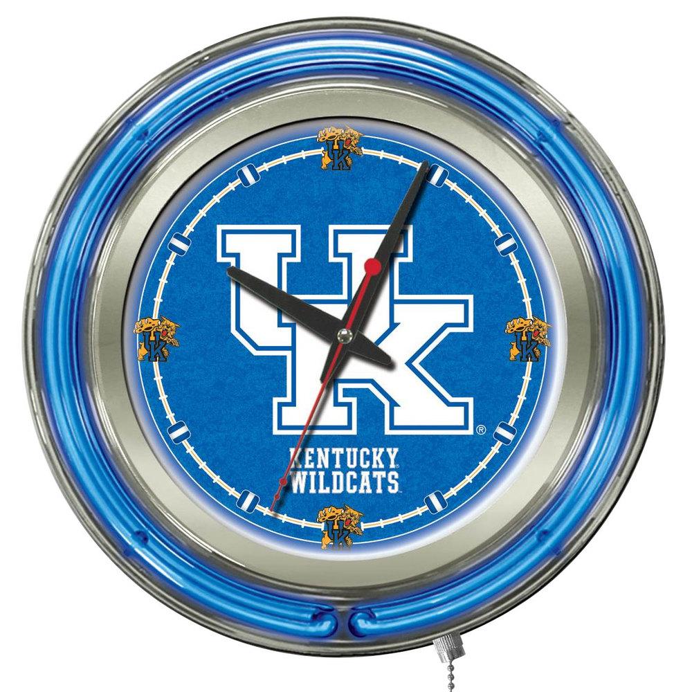 Holland Bar Stool Clk15UKY UK University Of Kentucky 15 Neon Clock