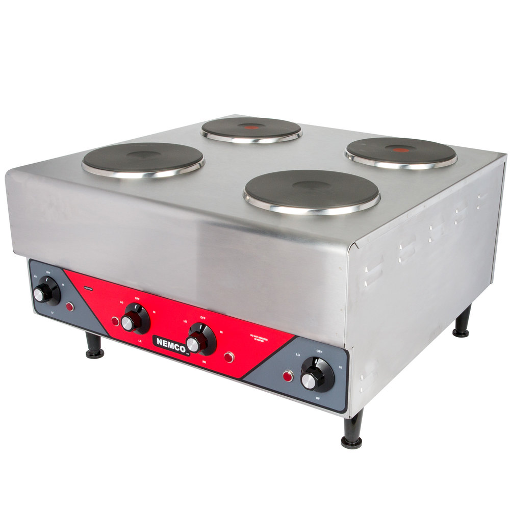 Nemco 6311-2-240 Electric Countertop Raised Hot Plate with 4 Solid ...
