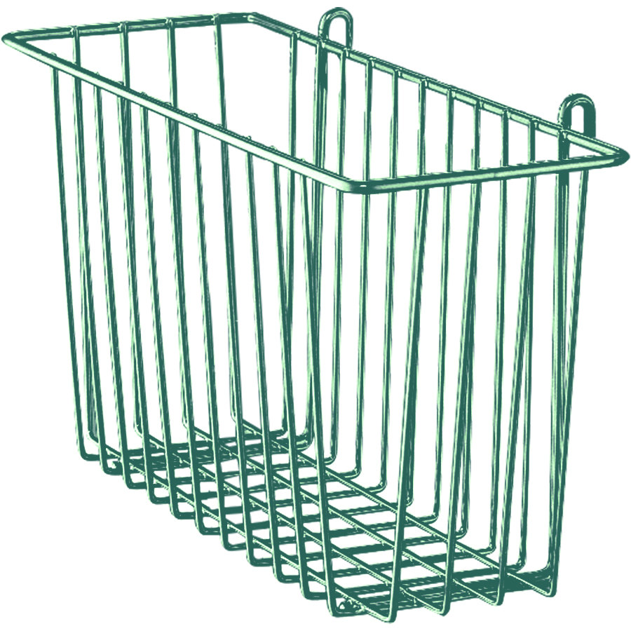 "Metro H209-DHG Hunter Green Storage Basket for Wire Shelving 13 3/8"" x 5"" x 7"""