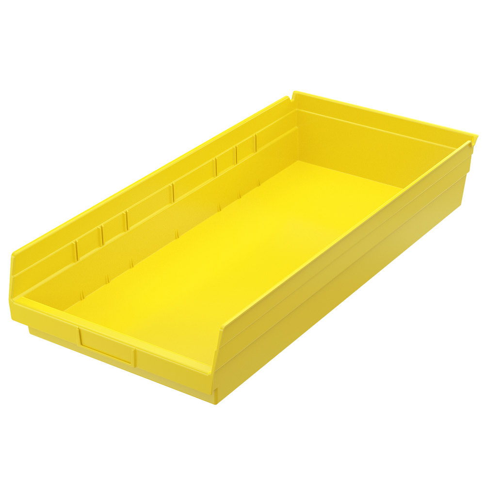 "Metro MB30174Y Yellow Nesting Shelf Bin 23 5/8"" x 11 1/8"" x 4"""