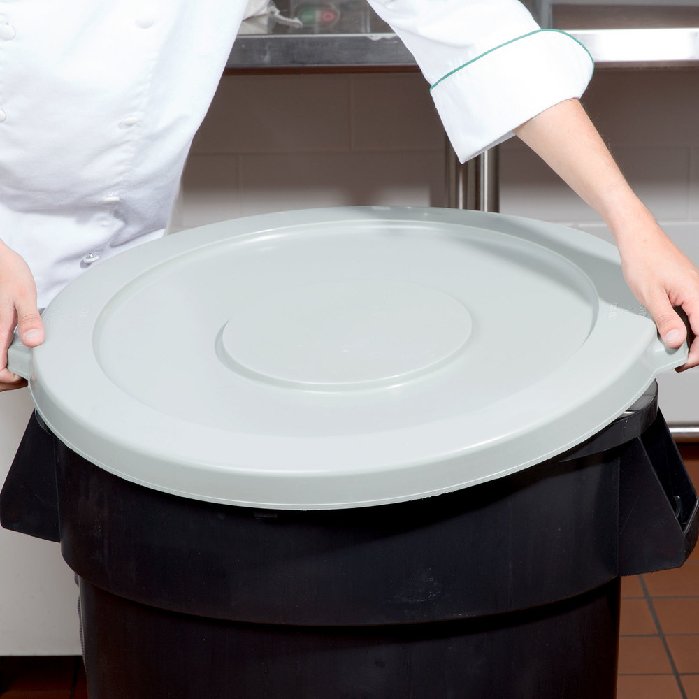 32 Gallon Gray Trash Can Lid