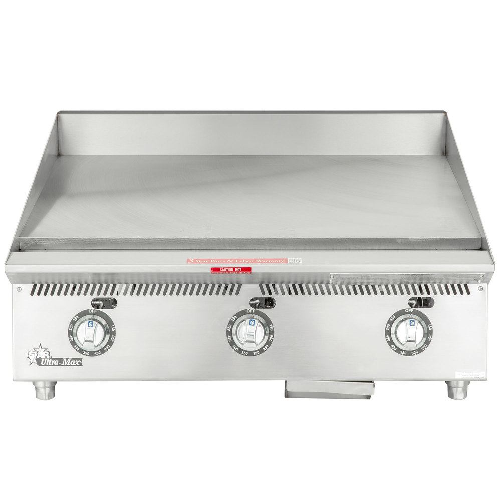 "Star 836TA Ultra Max 36"" Countertop Gas Griddle with Snap Action Controls - 90,000 BTU"