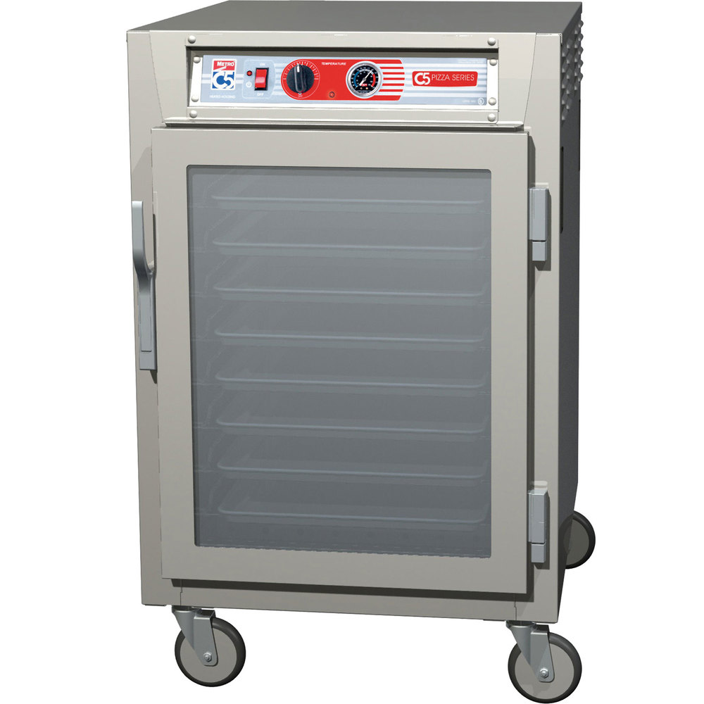 Metro C5Z65-NFC-SPFC C5 Pizza Series Pass-Through Insulated Heated Holding Cabinet - Half Size with Clear Doors 120V