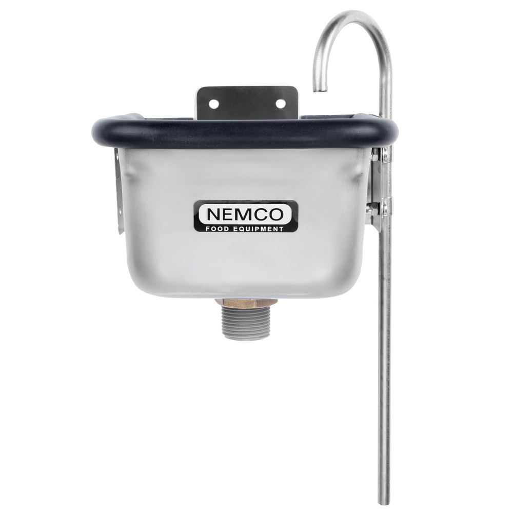 "Nemco 77316-7 7"" Ice Cream Dipper Well and Faucet Set"