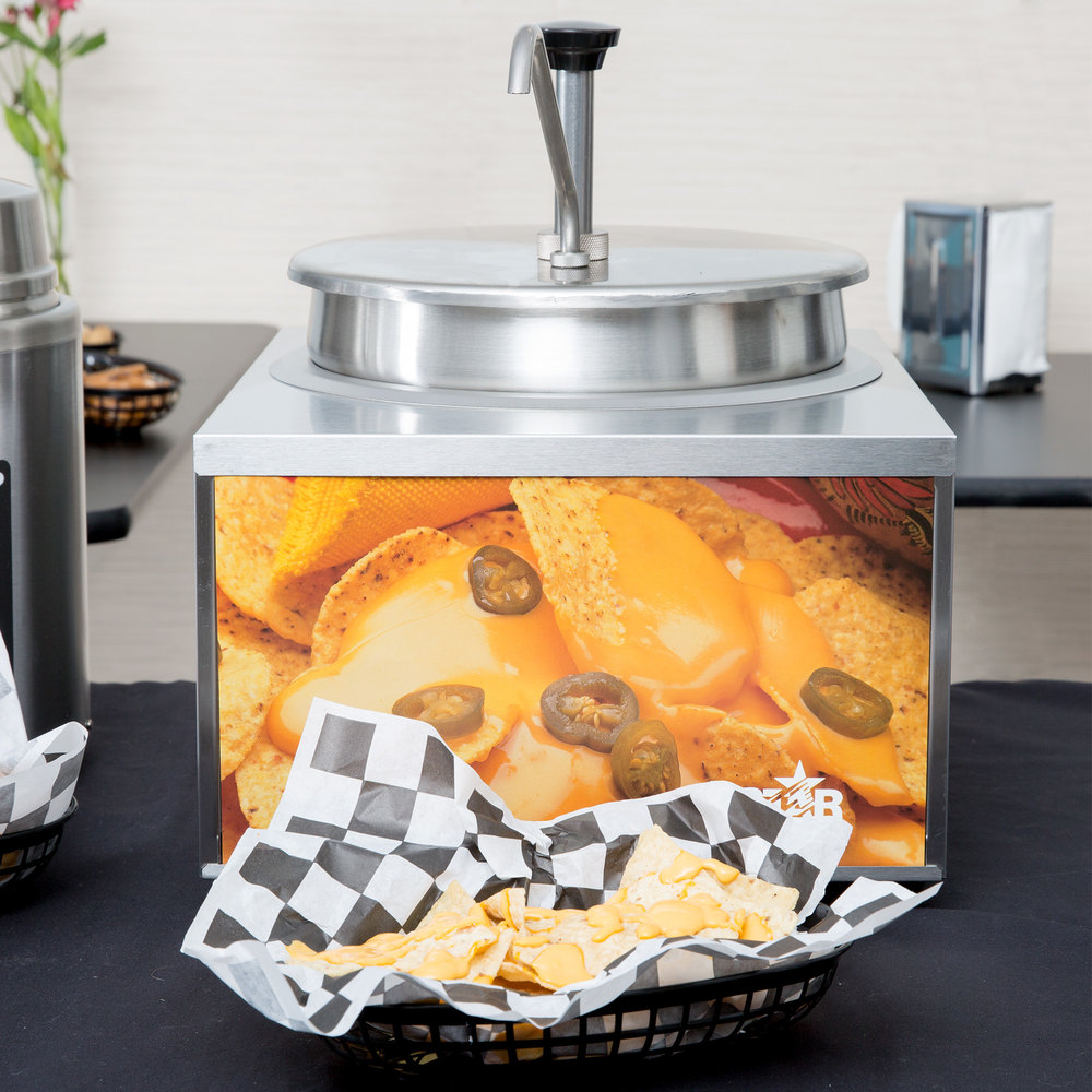 Star 11WLA-P 11 Qt. Heat & Serve Cheese Warmer with Pump Scratch and Dent