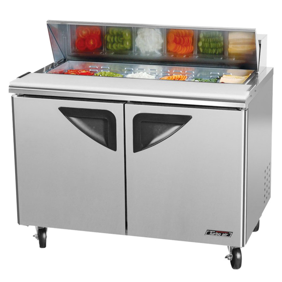 "Turbo Air TST-48SD 48"" Super Deluxe Refrigerated Sandwich / Salad Prep Table"