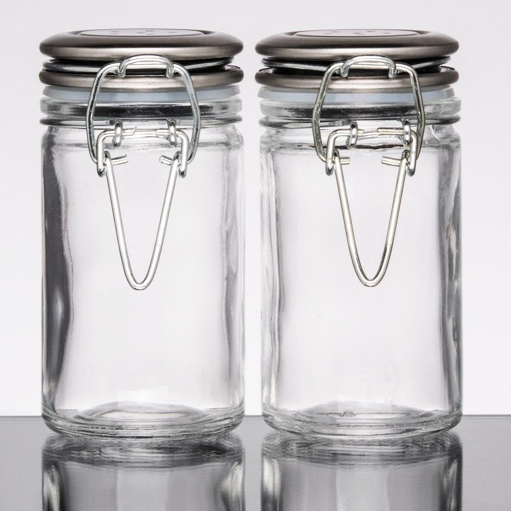 Tablecraft H2S&P 2 oz. Resealable Salt and Pepper Shaker