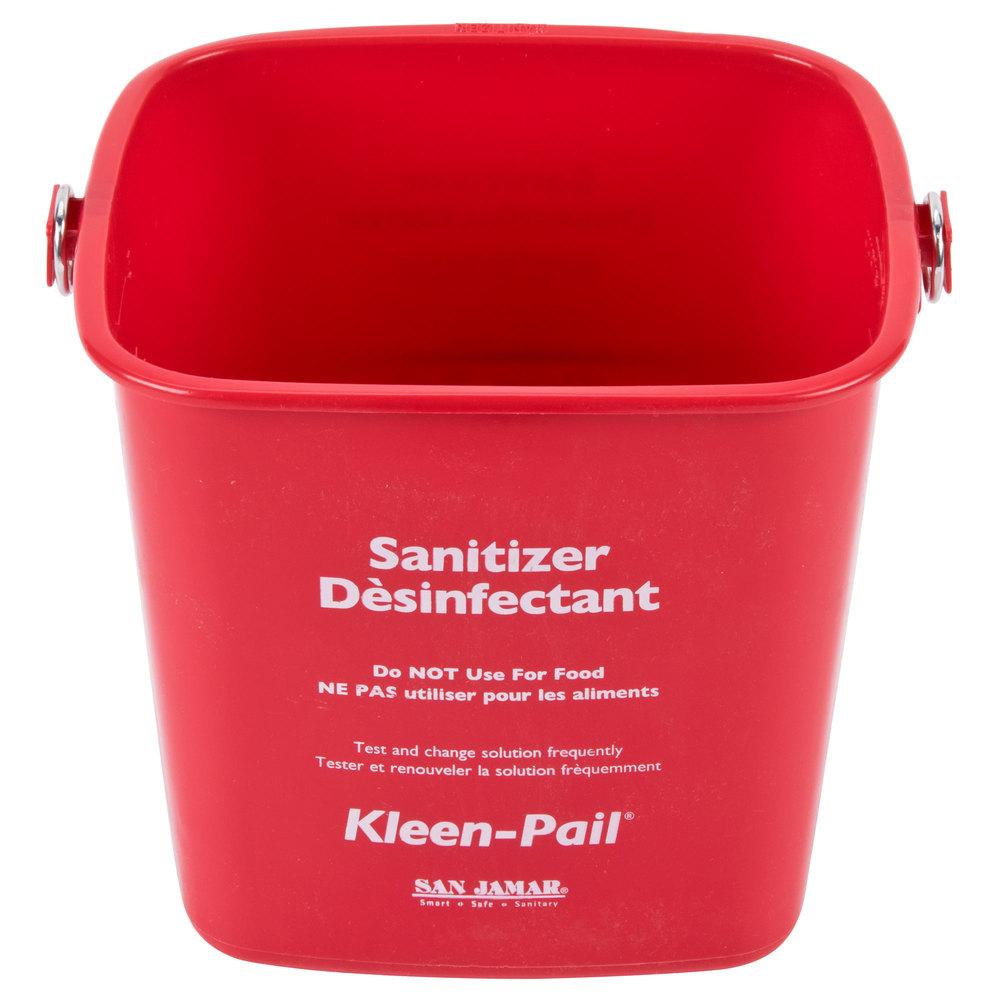 Gas Ranges >> San Jamar KP97RD 3 Qt. Red Sanitizing Kleen-Pail