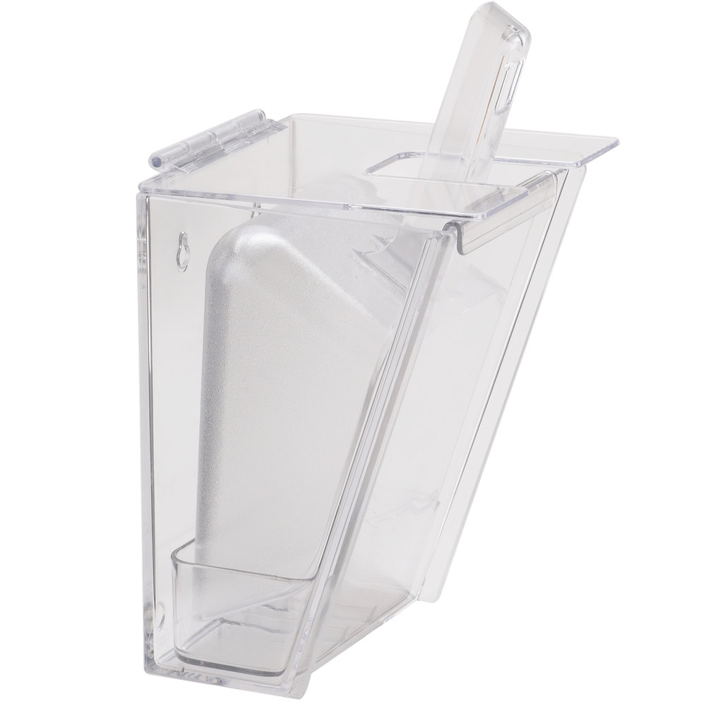 Cal Mil 356 Wall Mount Scoop Holder With 32 Oz Scoop And