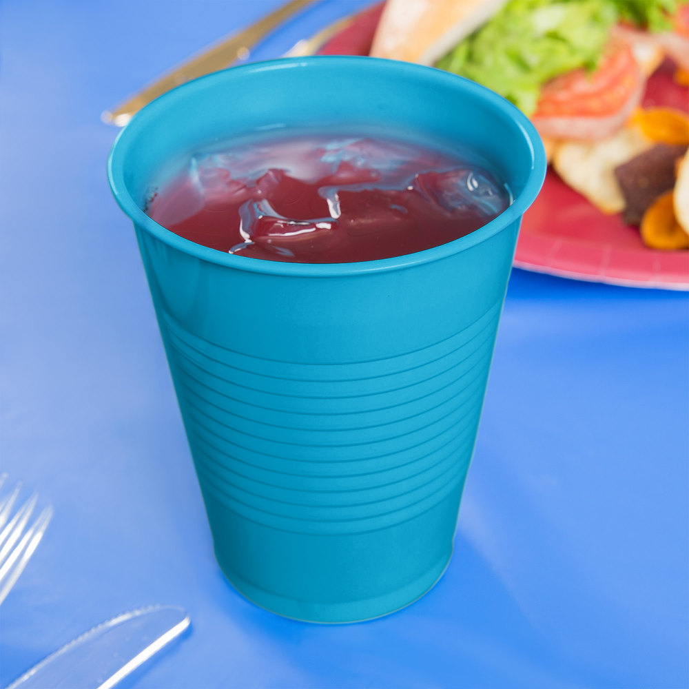 Creative Converting 28313181 16 oz. Turquoise Blue Plastic Cup - 20/Pack