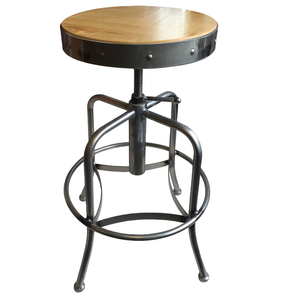 Holland Bar Stool 910clnat Clear Coat Steel Height