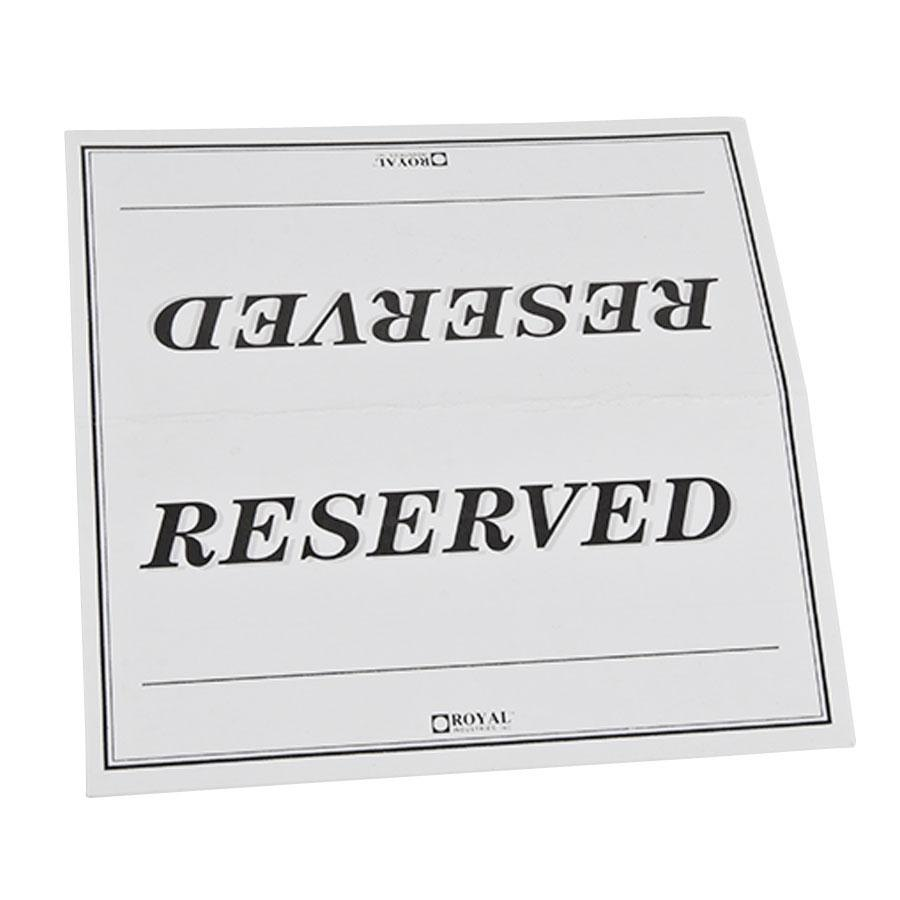 table tent sign reserved double sided 250 pack