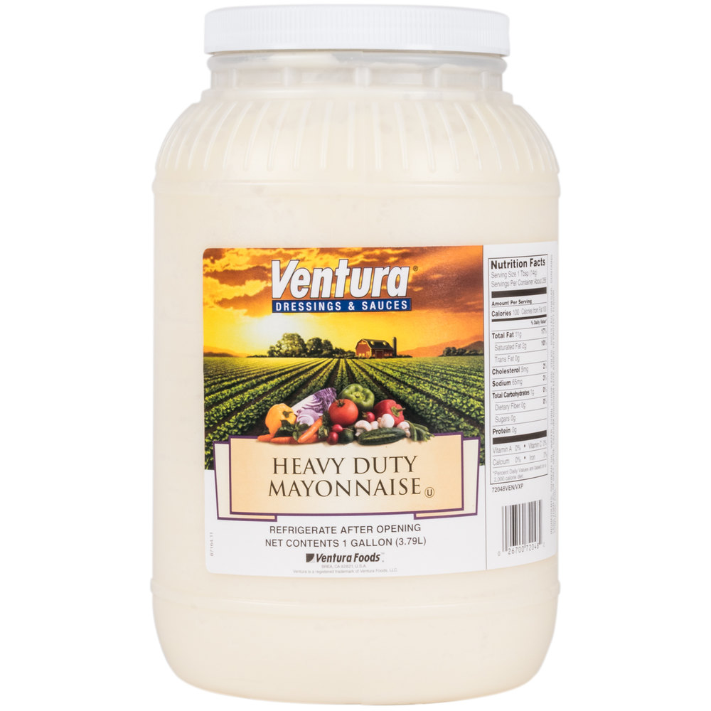 Heavy Duty Mayonnaise 1 Gallon Container - 4/Case