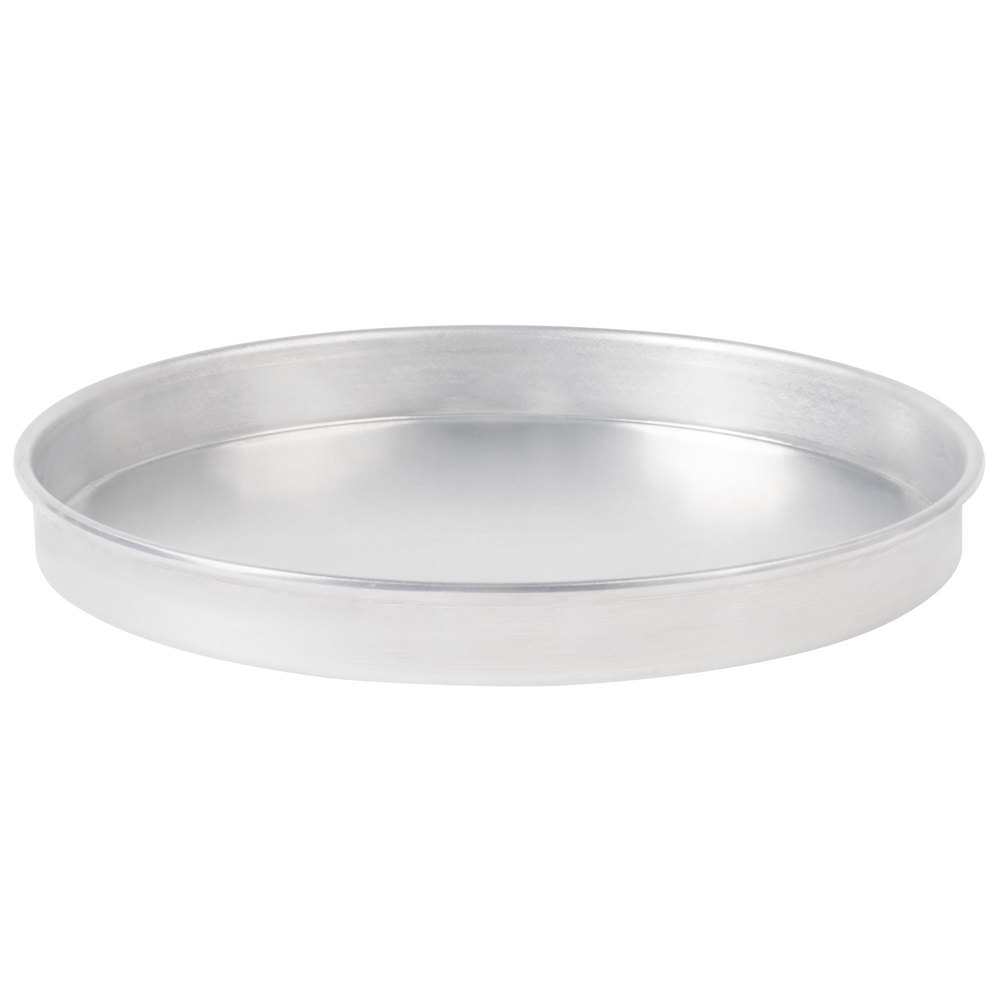 "American Metalcraft A4010 10"" x 1"" Standard Weight Aluminum Straight Sided Pizza Pan"