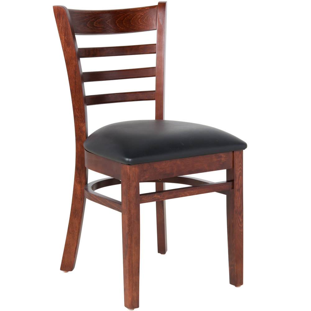 Lancaster table seating mahogany finish wooden ladder Ladder back chairs