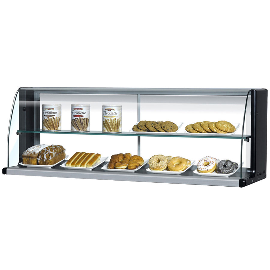 "Turbo Air TOMD-60-HB 63"" Top Dry Display Case for Turbo Air TOM-60SB Slim Line Open Display Case - Black"