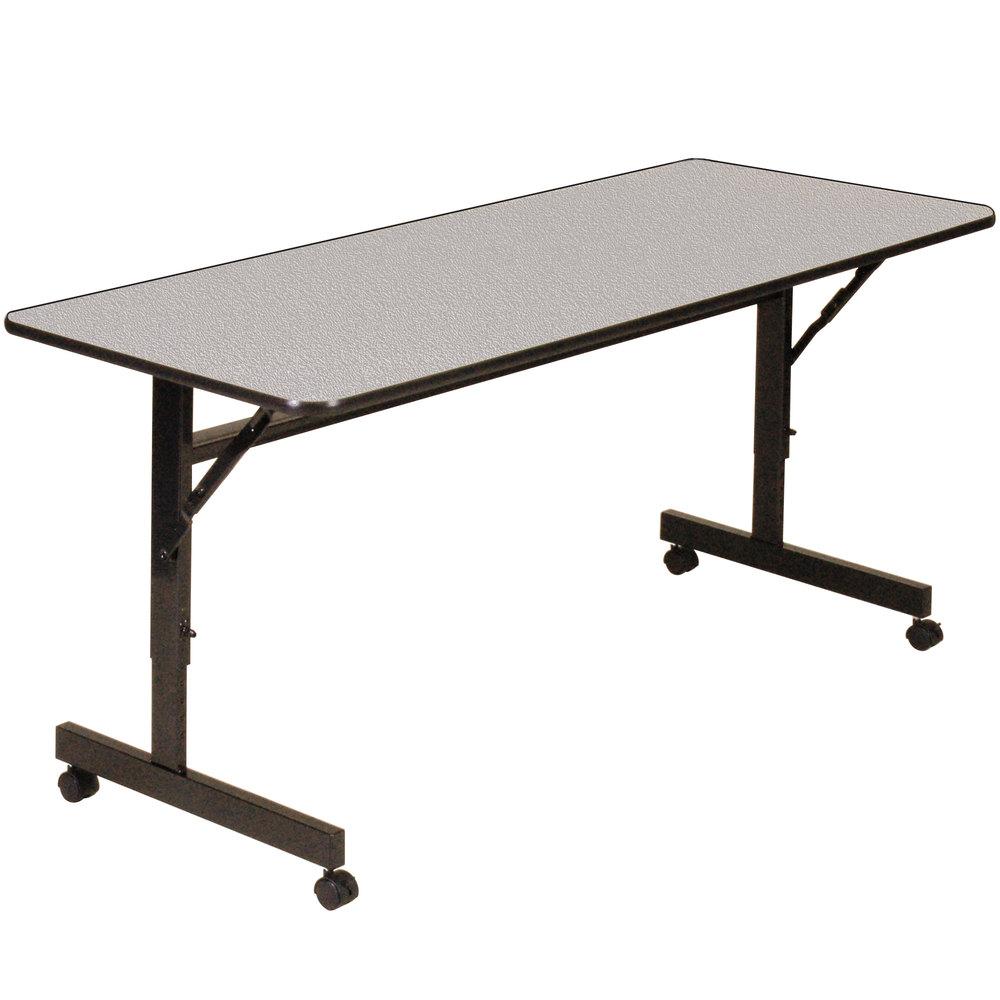 correll econoline mobile flip top table 24 x 72. Black Bedroom Furniture Sets. Home Design Ideas