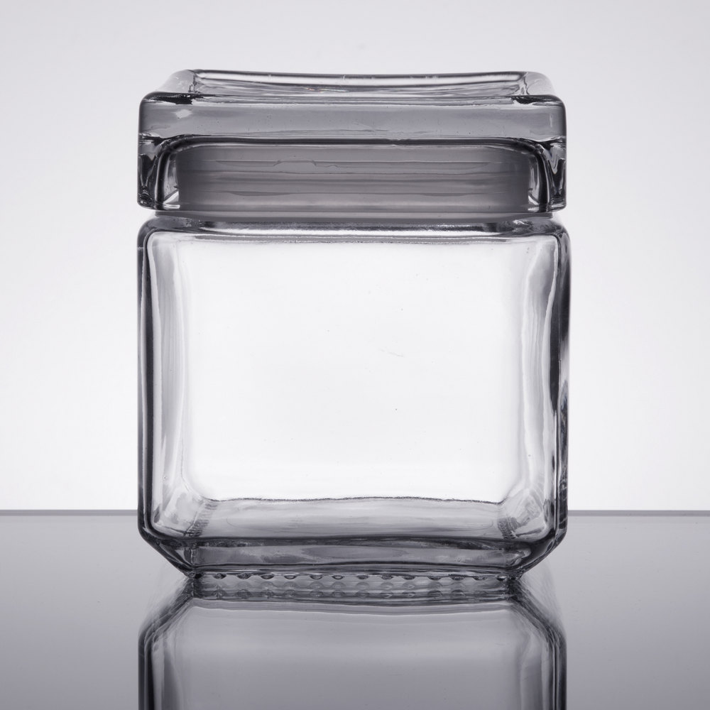 ... Stackable Square Glass Jar. Main Picture ...