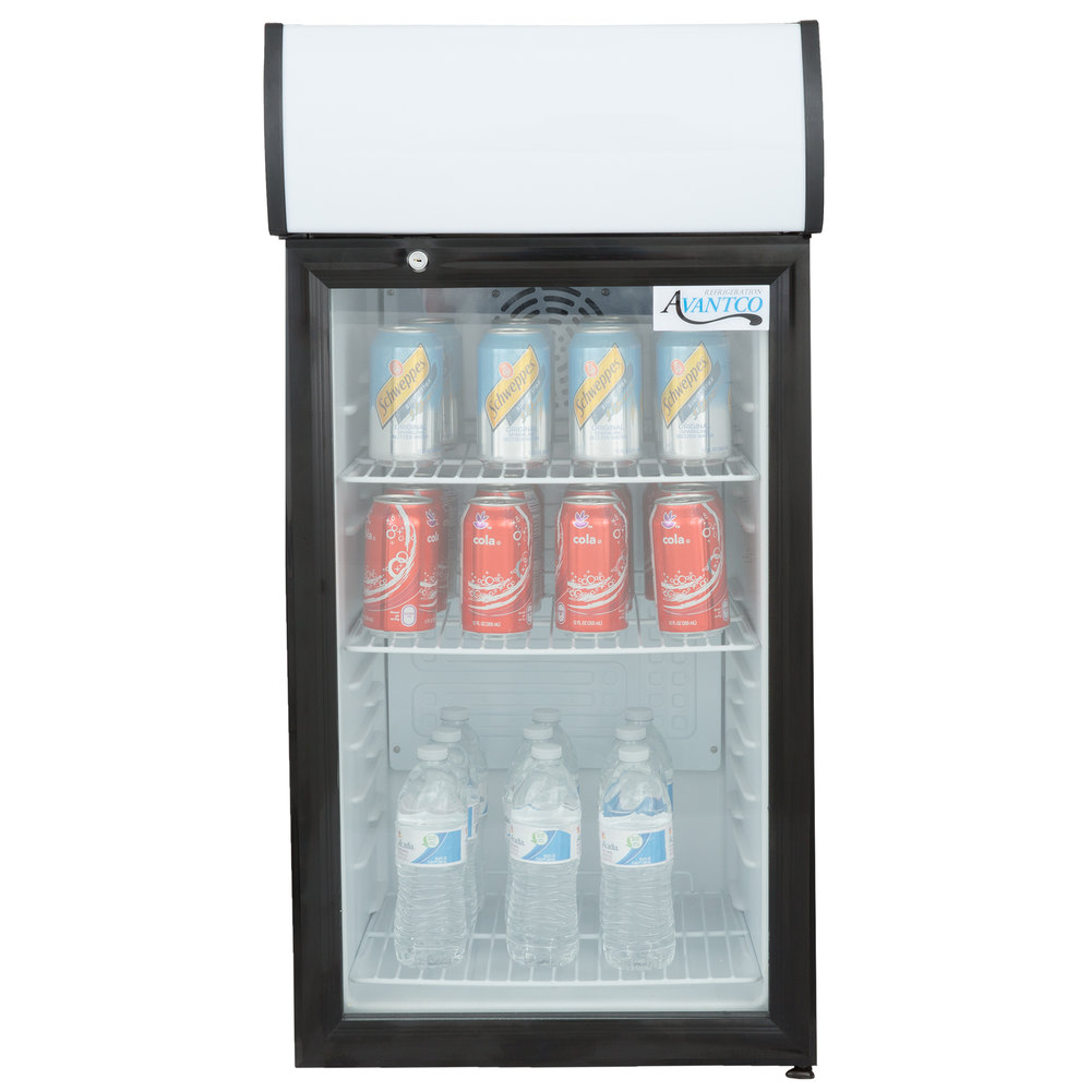 Avantco Sc 80 Black Countertop Display Refrigerator With
