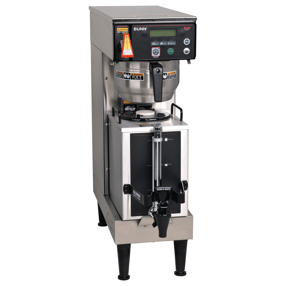 Bunn Single Wiring Diagram Library Coffee Maker 387000045 Axiom 1 Gallon Brewer With Portable Server 120 208