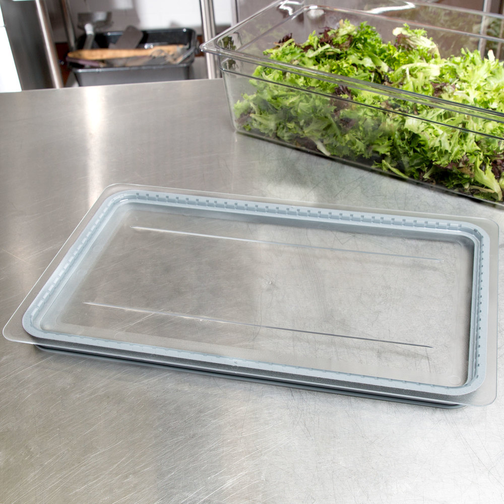Cambro 10CWGL135 Camwear Full Size Clear Polycarbonate GripLid