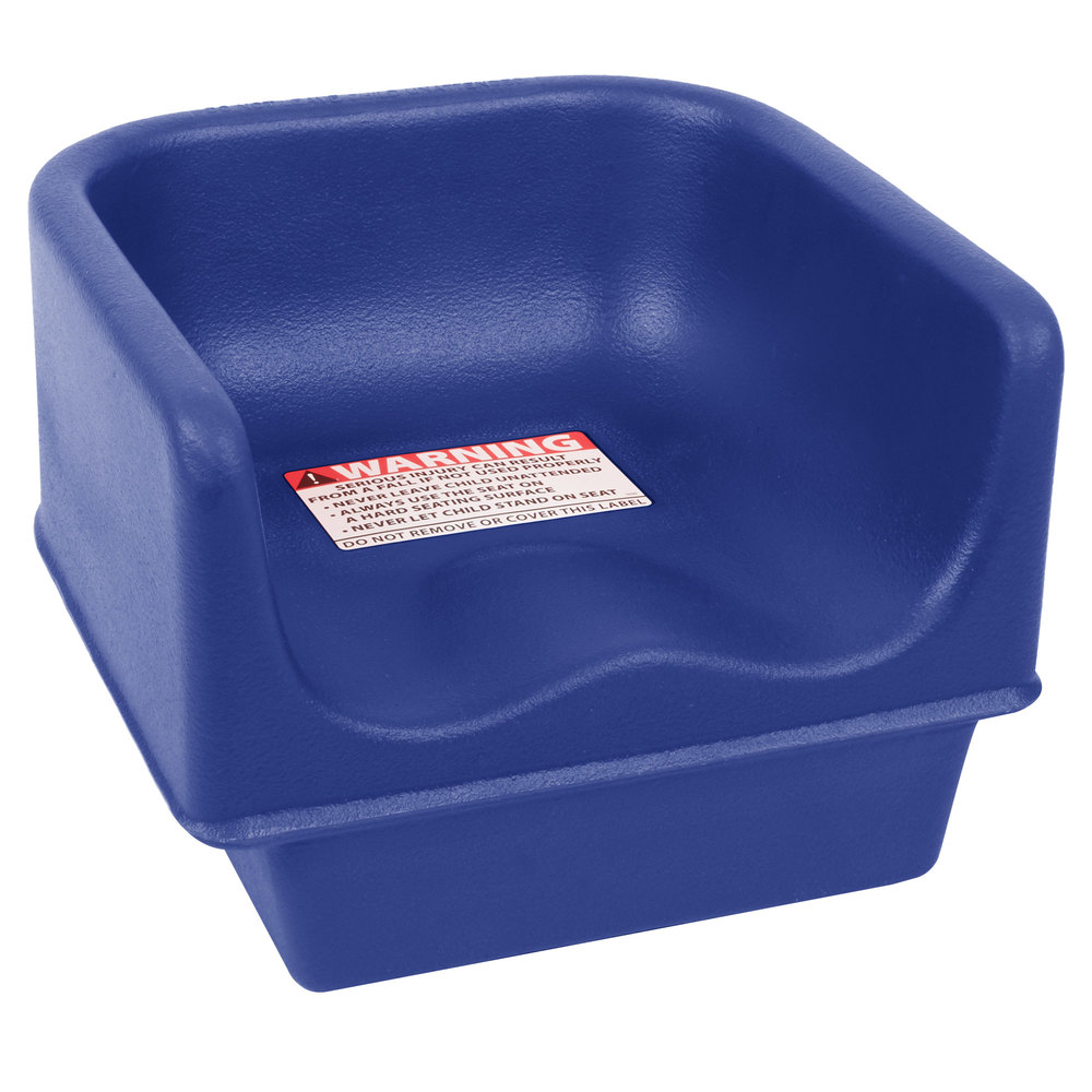 Cambro 100bc1186 Navy Blue Plastic Single Height Booster Seat