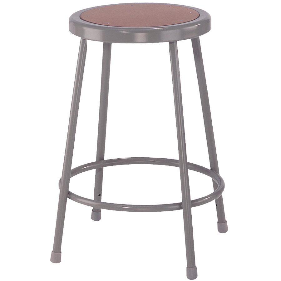 National Public Seating 6224 24 Quot Gray Hardboard Round Lab