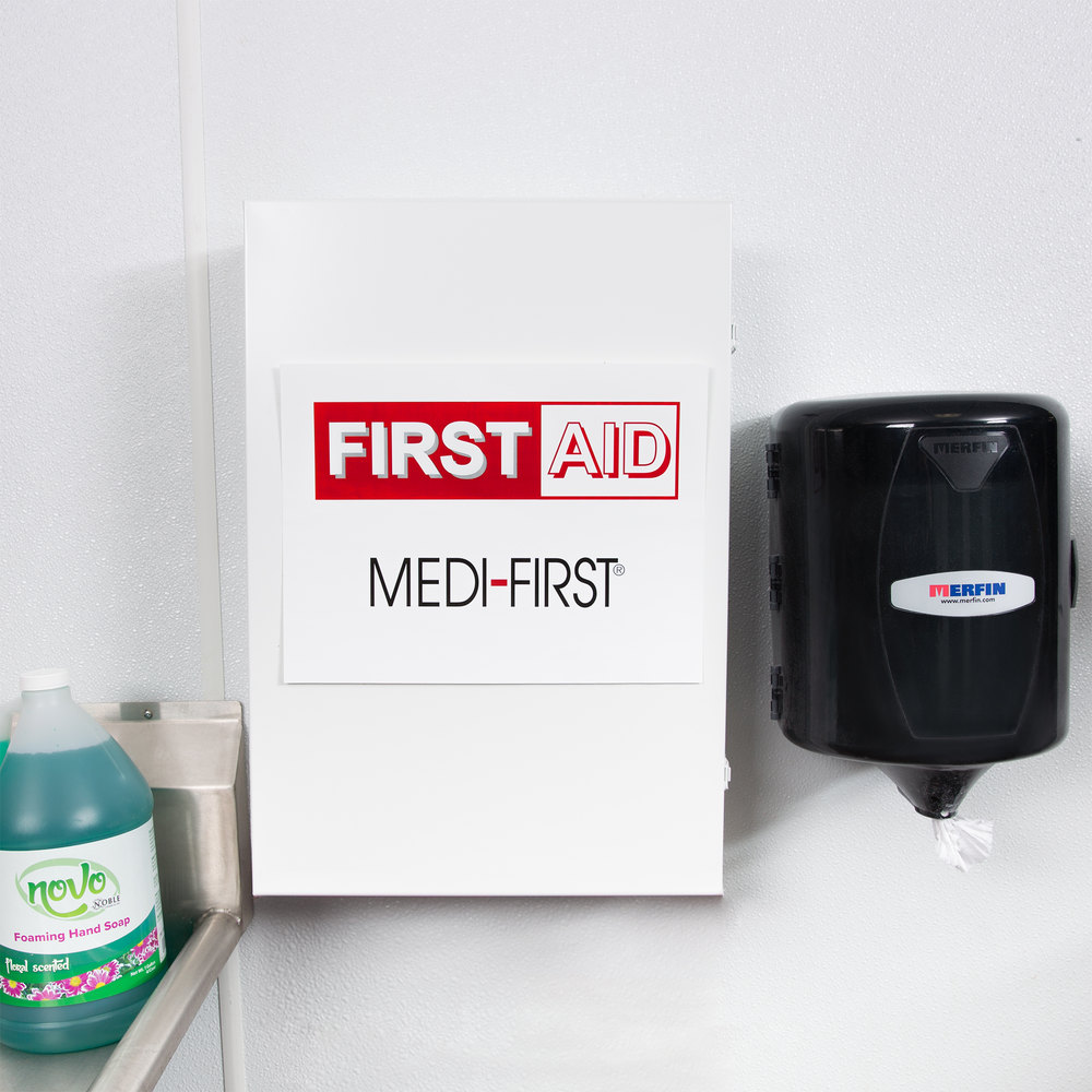 Medique 734M1 1098 Piece First Aid Kit Cabinet 4 Shelf