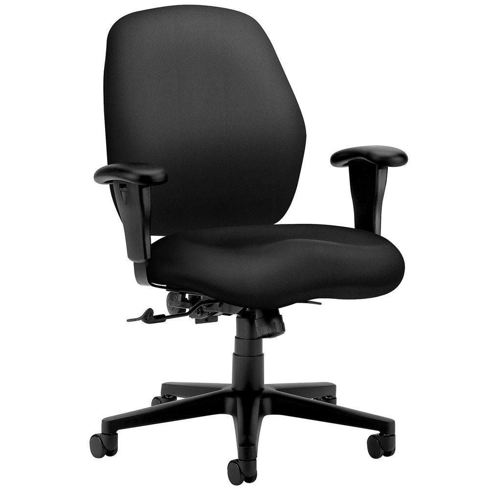 Office Chair Companies: HON 7823NT10T 7800 Series Tectonic Black Mid Back Task