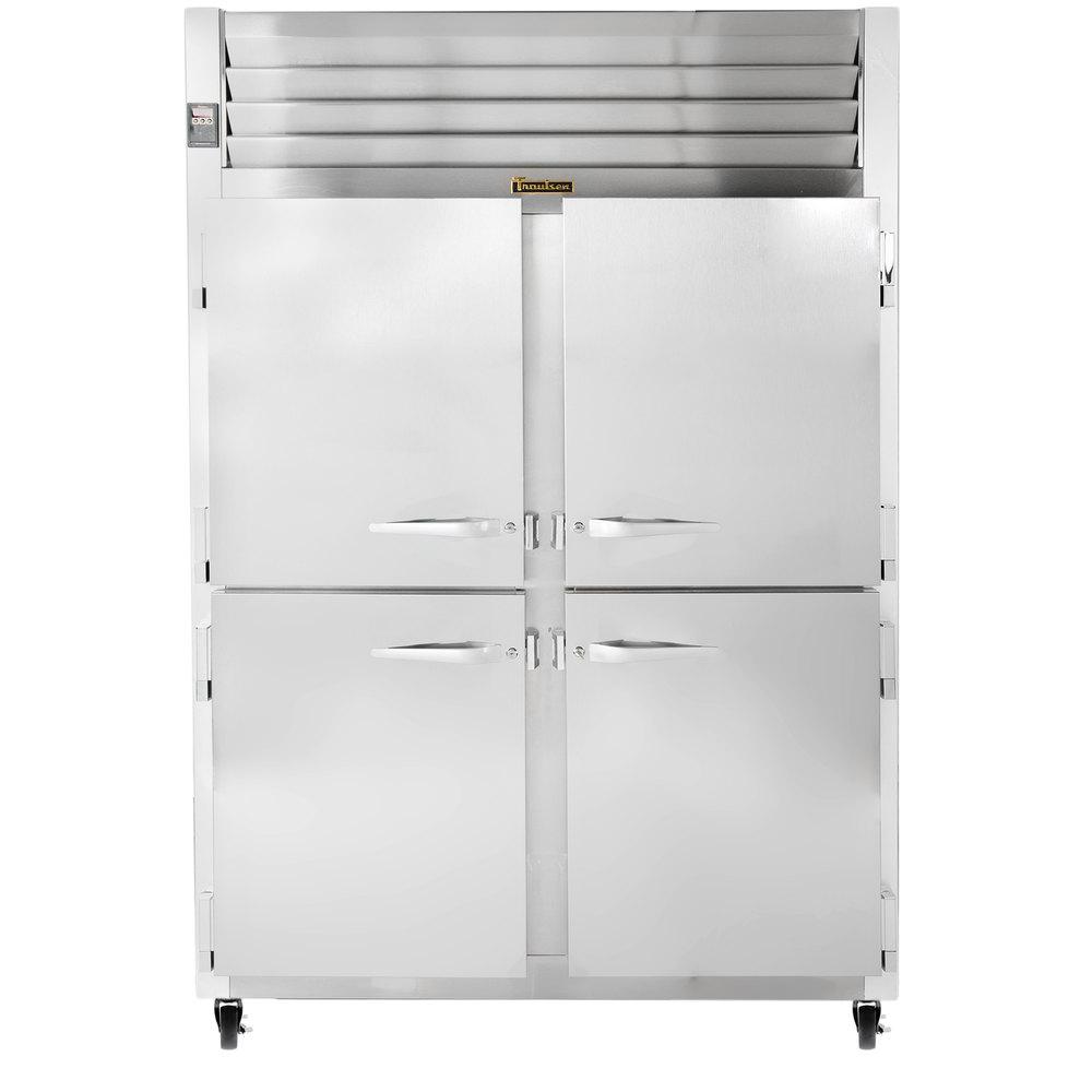 Traulsen G20000 2 Section Half Door Reach In Refrigerator