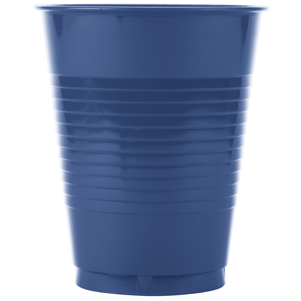 Creative Converting 28113781 16 oz. Navy Blue Plastic Cup ...