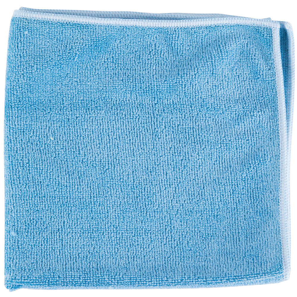 "3m Microfiber Lens Cleaning Cloth Pack Of 10: Unger MF40B SmartColor MicroWipe 16"" X 15"" Blue Heavy-Duty"