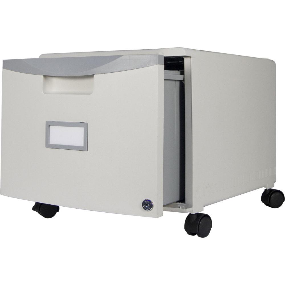 Storex 61254u01c Gray Plastic Single Drawer Mobile Filing