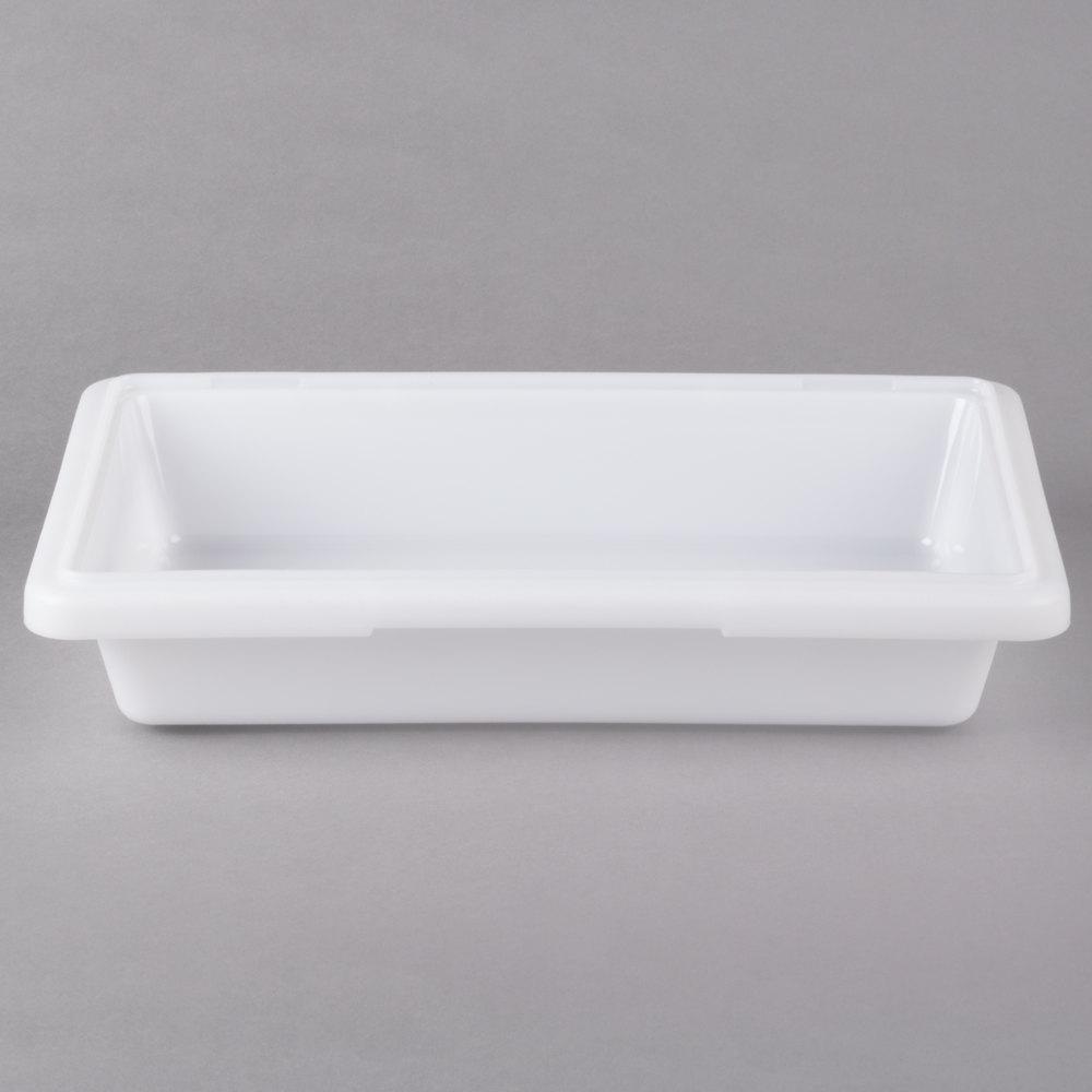 Choice 12 Quot X 18 Quot X 9 Quot White Plastic Food Storage Box
