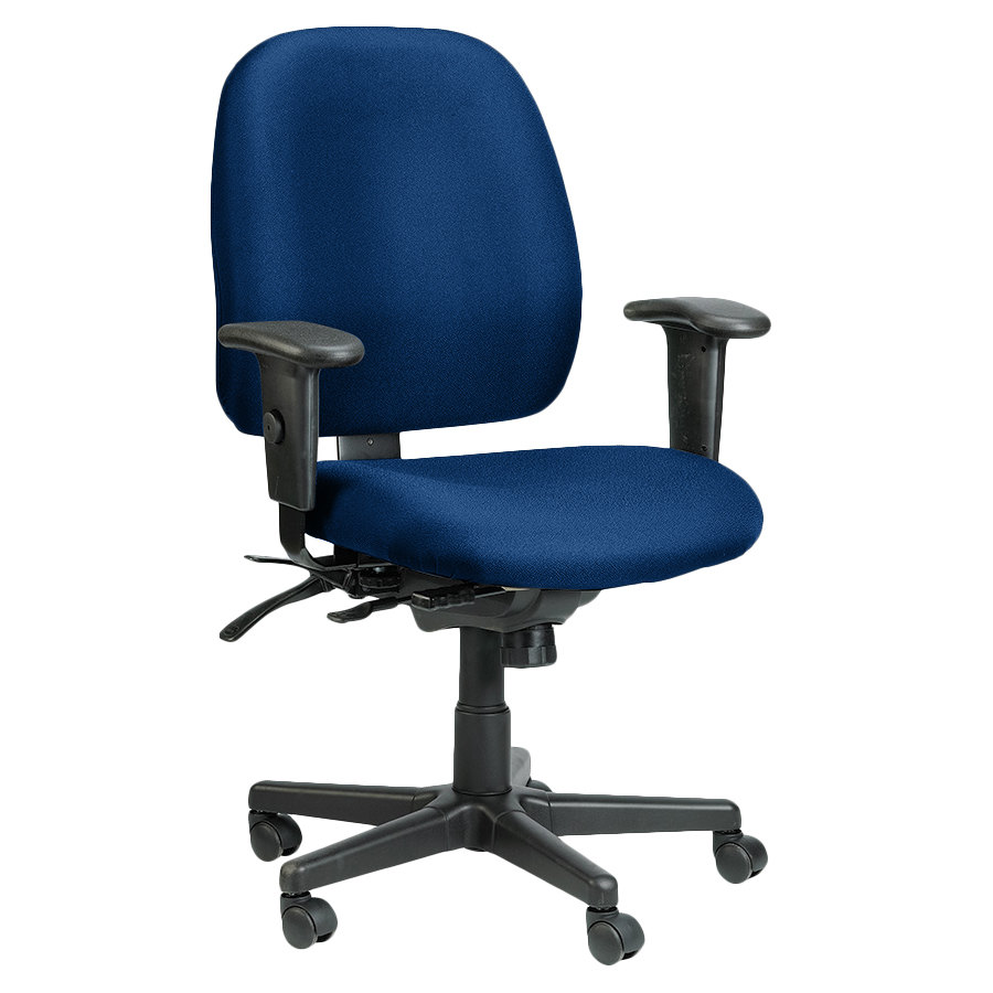 Eurotech 49802A AT30 4x4 Series Navy Fabric Mid Back Multifunction Swivel Off