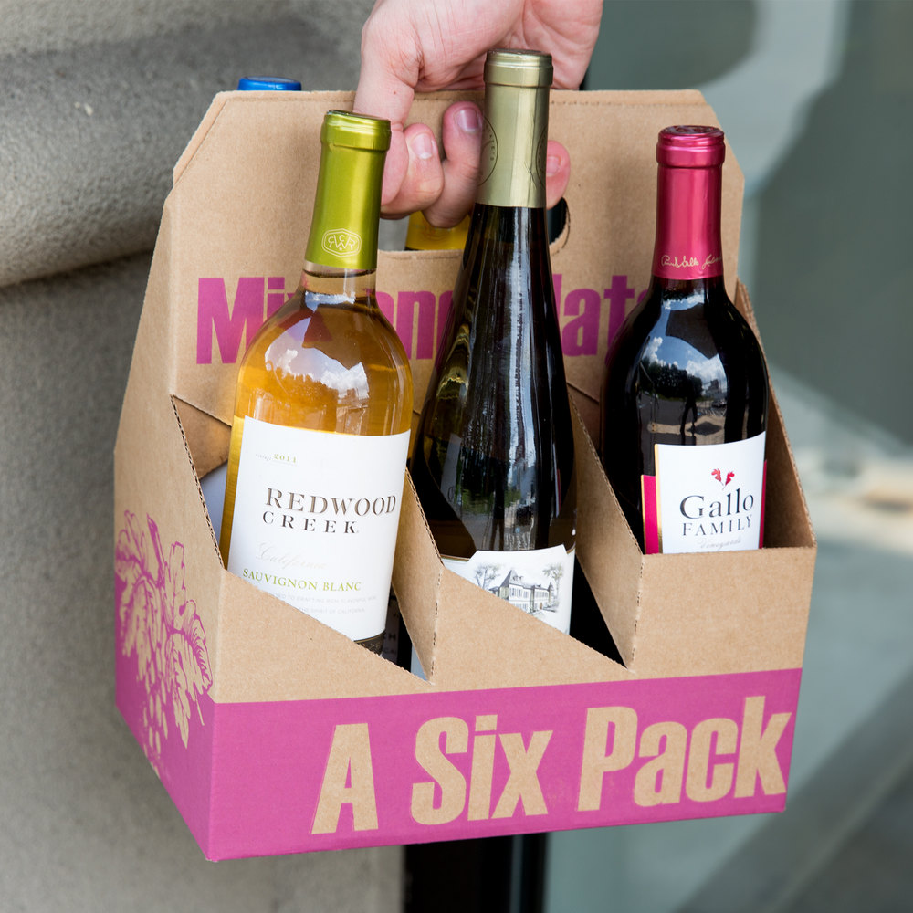 6 pack cardboard wine bottle carrier  pack