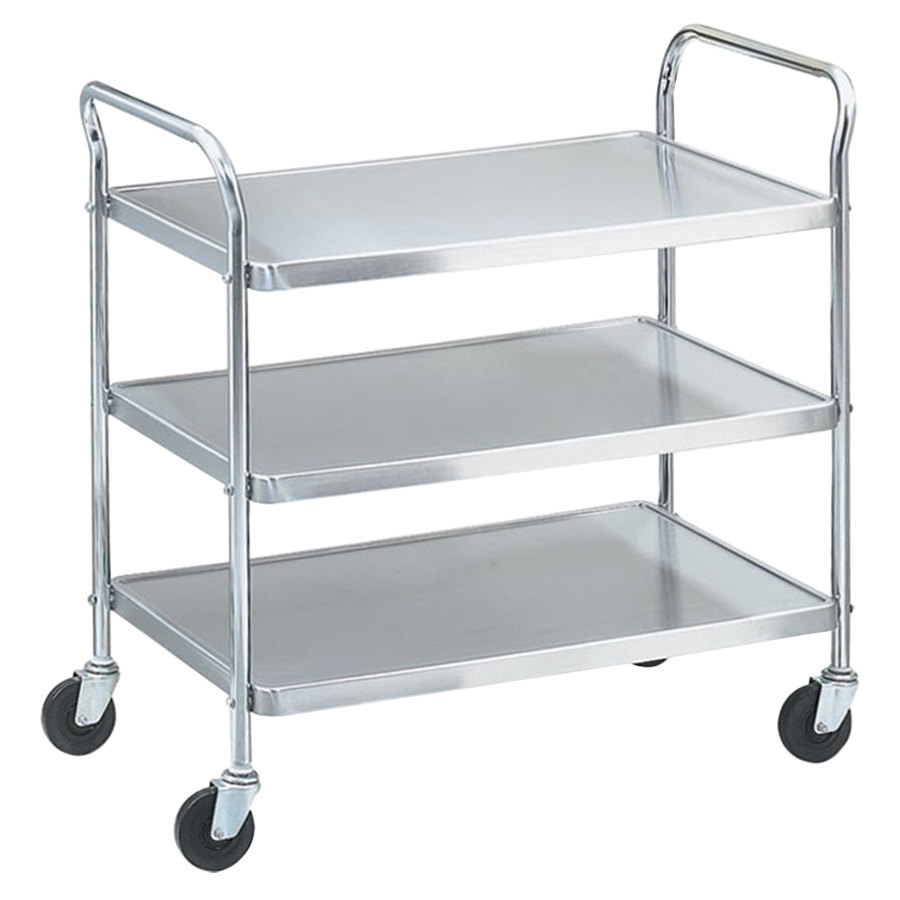 "Vollrath 97105 Knocked Down Stainless Steel 3 Shelf Utility Cart - 24"" x 16"" x 36 1/2"""