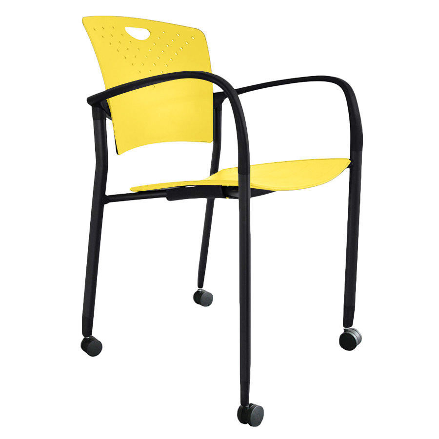 Eurotech Staqcasyel Staq Series Yellow Plastic Chair With