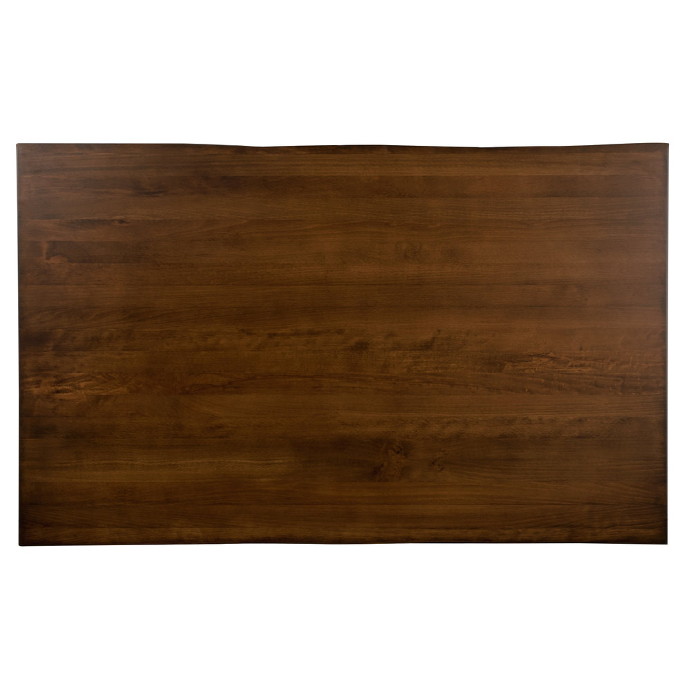 lancaster table seating 30 x 48 solid wood live edge table top with antique walnut finish. Black Bedroom Furniture Sets. Home Design Ideas