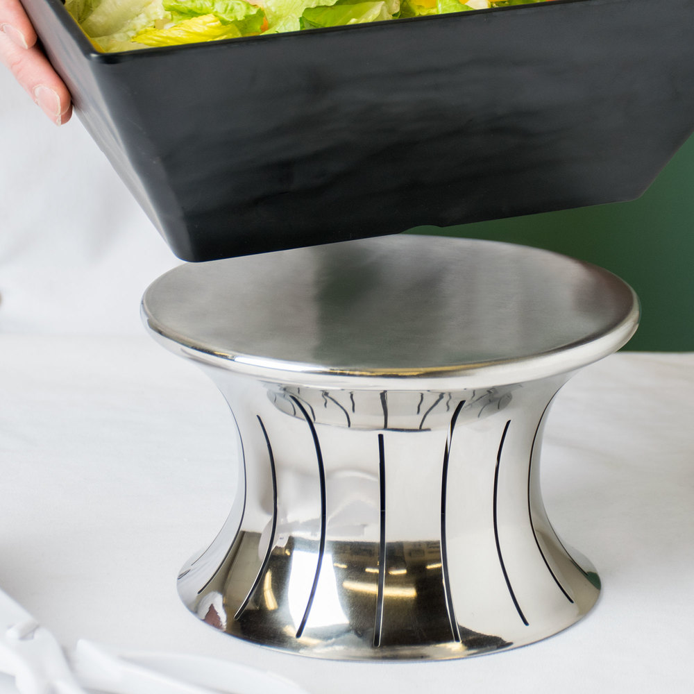 "Vollrath 46015 Polished Stainless Steel 5"" Hourglass Buffet Riser"