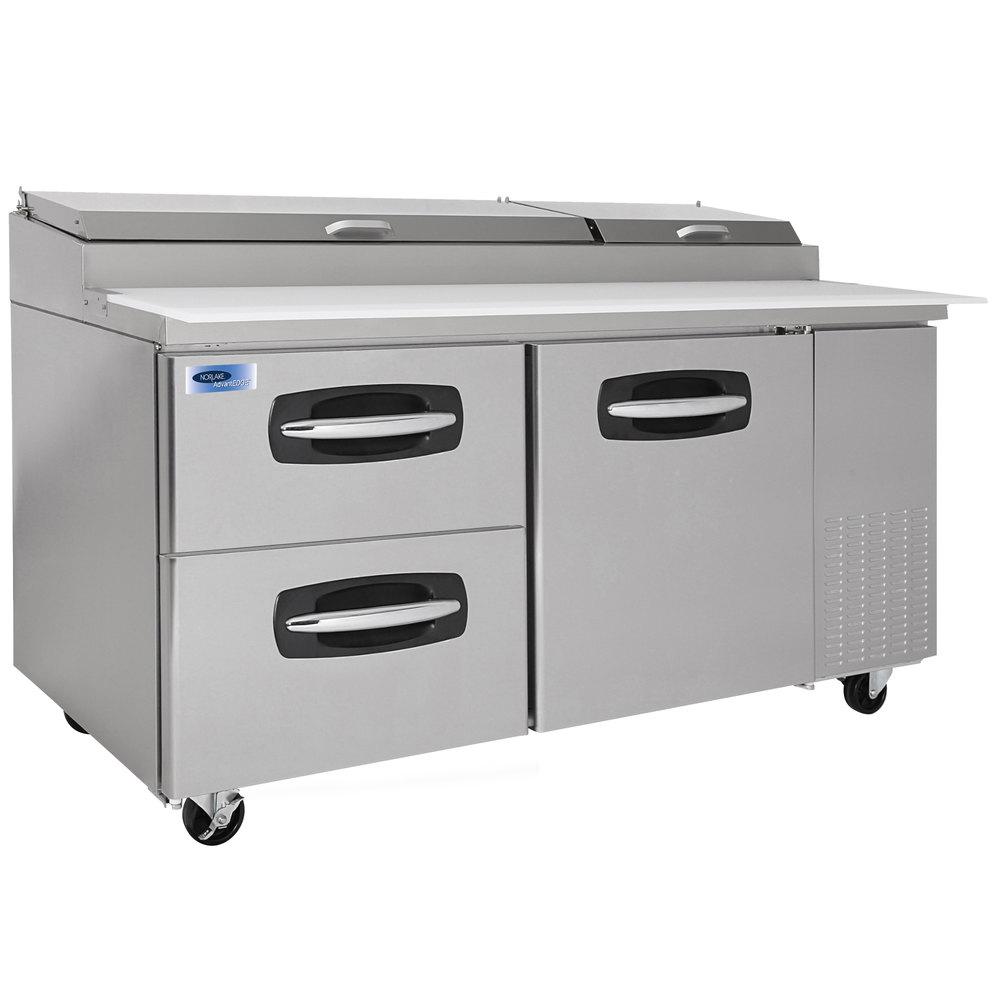 Nor lake nlpt67 003 advantedge 67 1 door 2 drawer for Door 2 door pizza