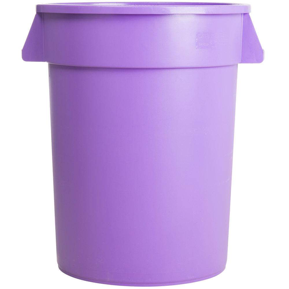 Greatest Carlisle 34103289 Bronco 32 Gallon Purple Trash Can IQ91