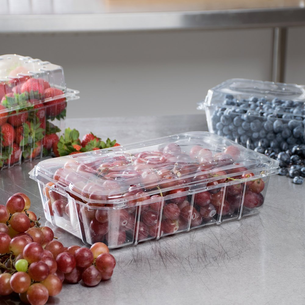 3 lb vented clamshell produce berry container 140 case for Clamshell casing