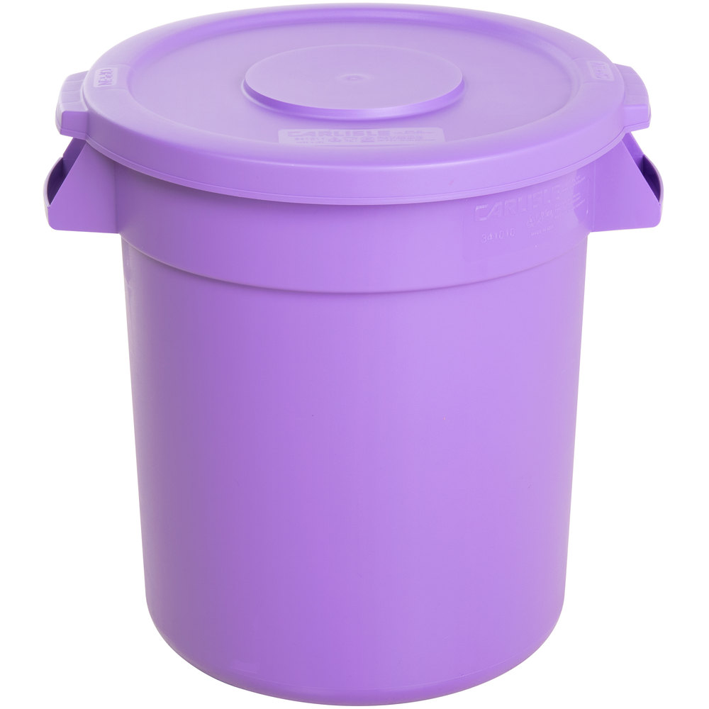Well known Carlisle Bronco 10 Gallon Purple Trash Can with Lid QV66