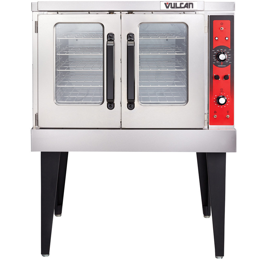 vulcan vc5ed 12d1 single deck full size electric convection oven with legs 240v 3 phase 12 kw. Black Bedroom Furniture Sets. Home Design Ideas